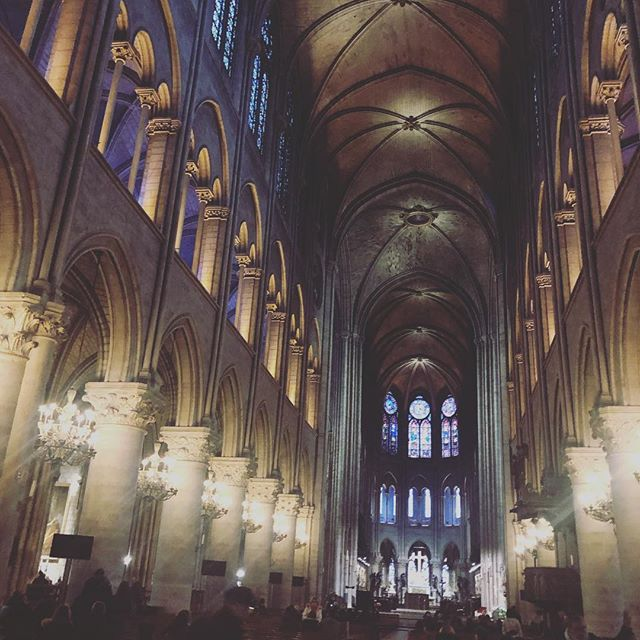 An incredible place we had the honor of visiting just two months ago. 💔 #notredame #paris