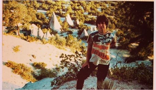 My mother, Teresa Contreras in New Mexico.