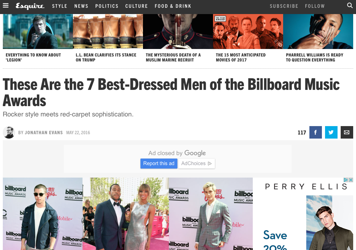 Esquire Best Dressed Billboards 2016
