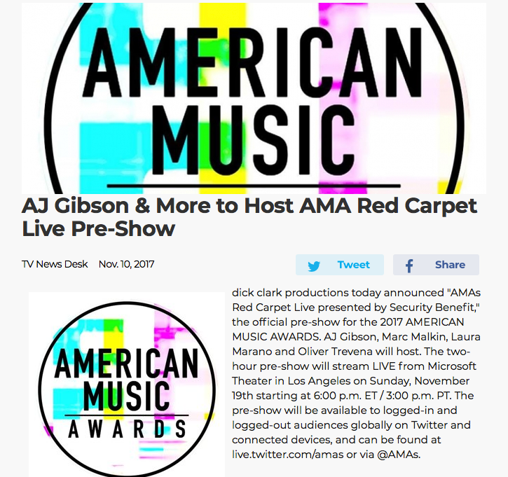 2017 AMAs Red Carpet LIVE Announcement