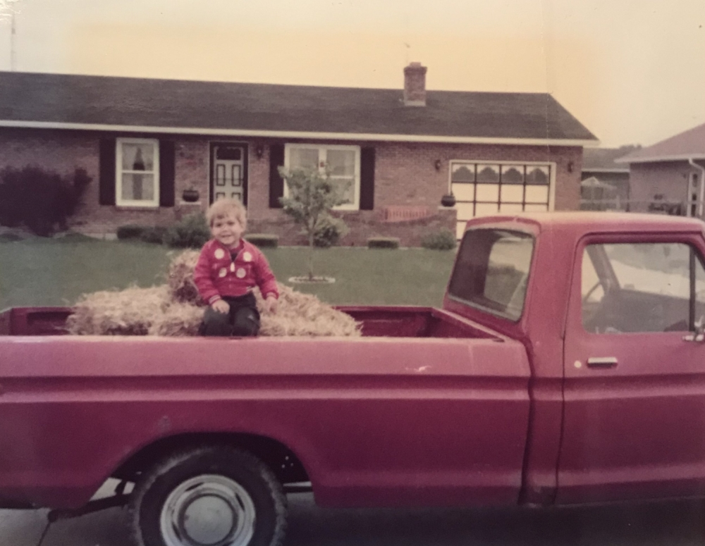 """Little AJ in the truck that """"murdered"""" Buddy #1."""