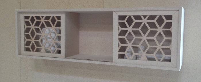 Net-Formed Rhombus Wall Cabinet