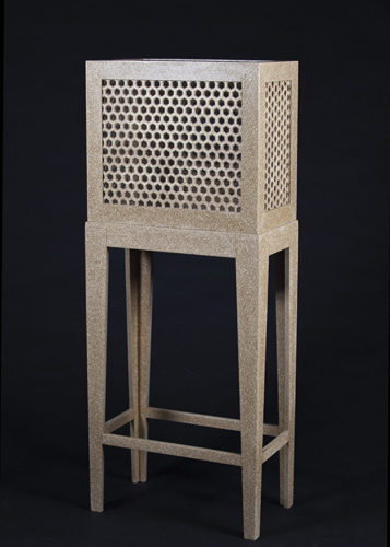 Net-Formed Honeycomb Display Cabinet