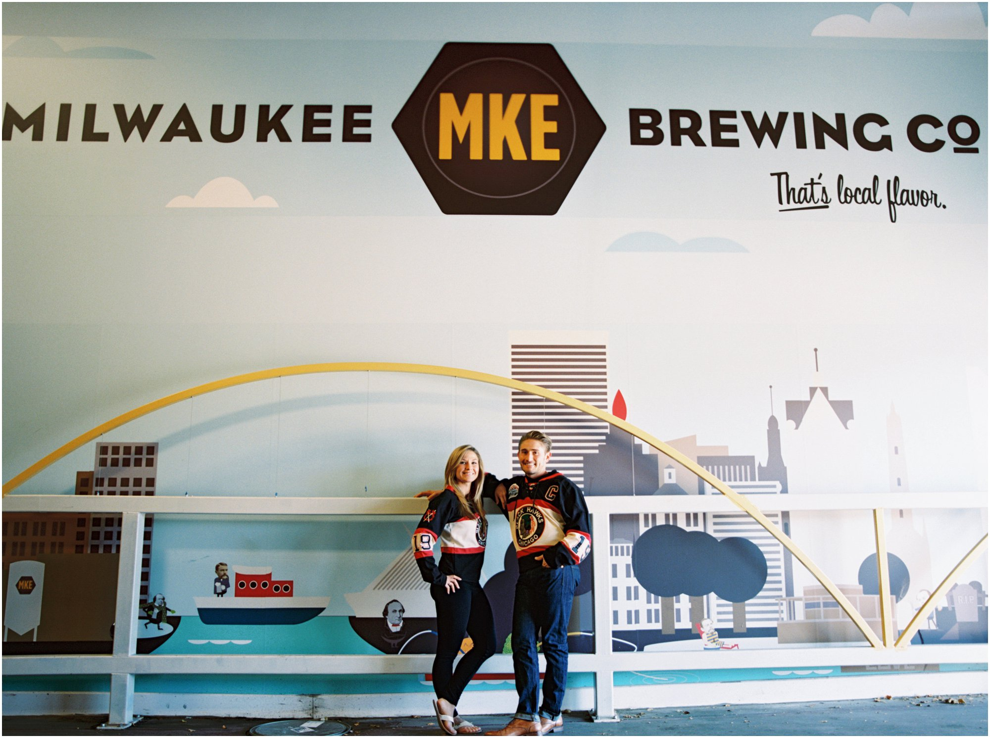 Milwaukee Beach Brewery Engagement Photos