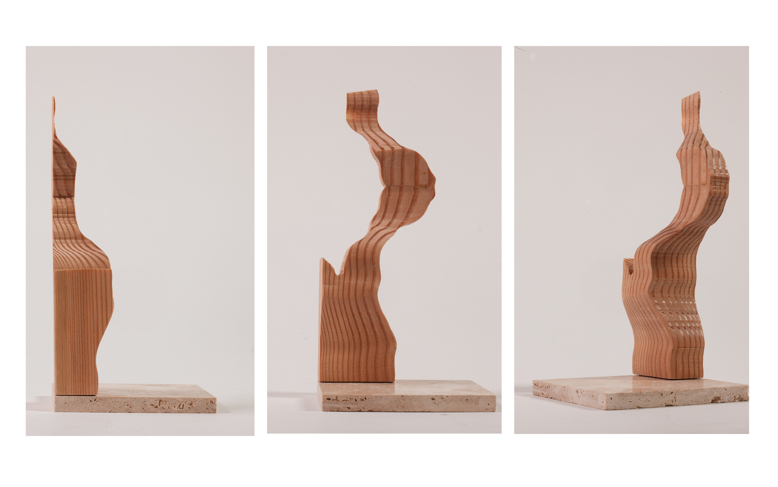 "Copy of ""Vertical Landscape"", 2014, Wood, 7.5"" x 3.5"" x 1.5"""