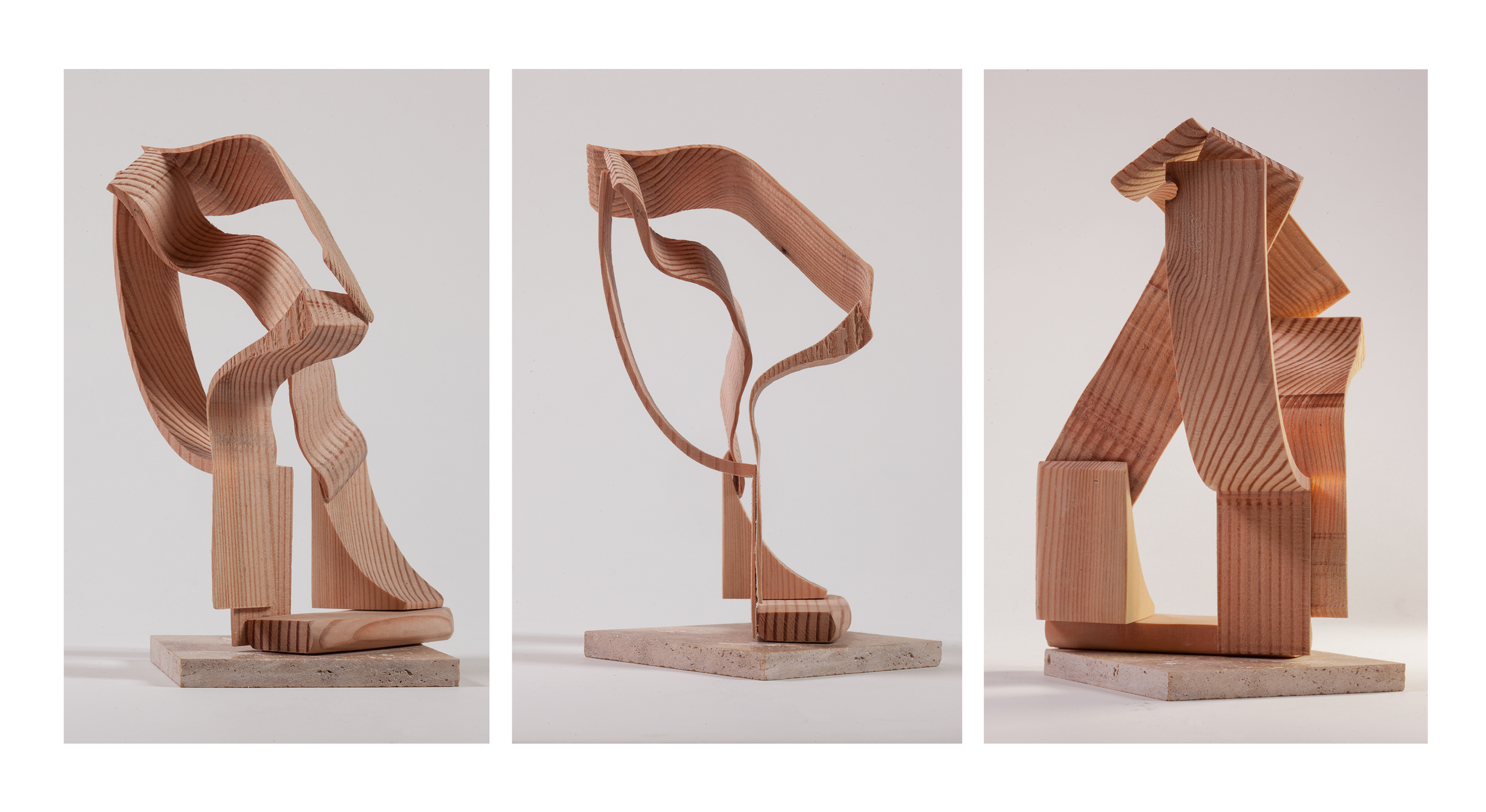 "Copy of ""Wood Intersections"", 2014, Wood, 8"" x 5.5"" x 7"""