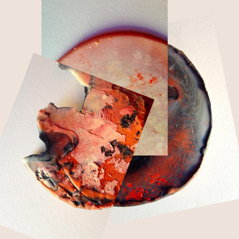 """Acrylic Flesh V, 2014, Photographic collage, 20"""" x 20"""", 7/7"""