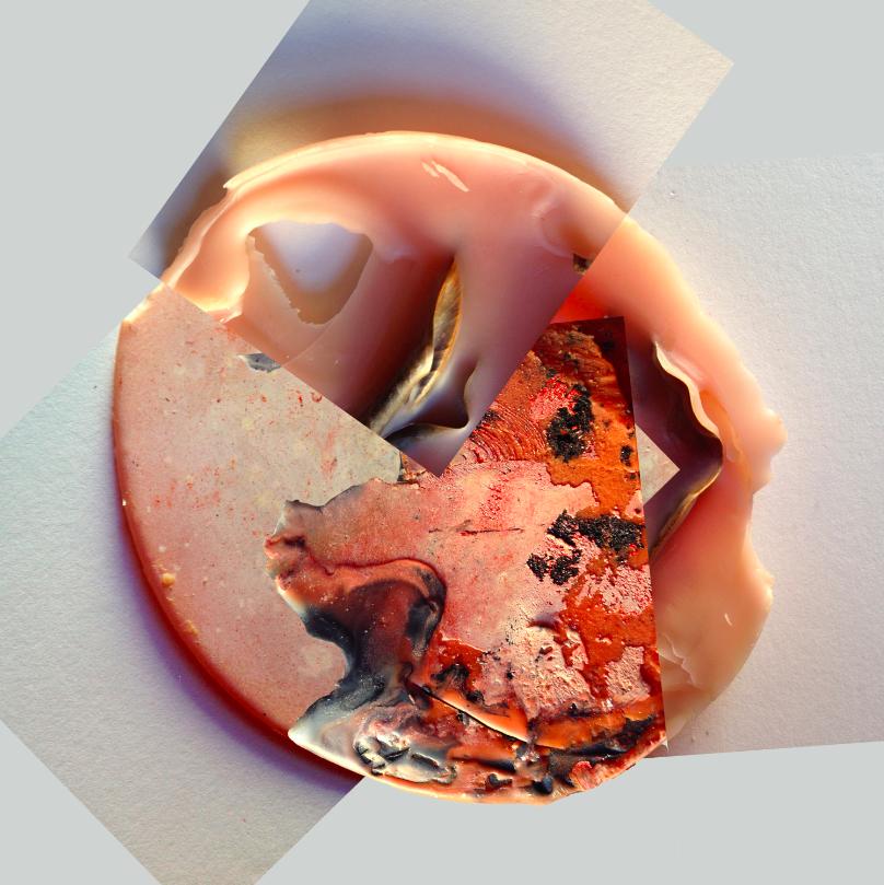 "Acrylic Flesh VI, 2014, Photographic collage, 20"" x 20"", 7/7"