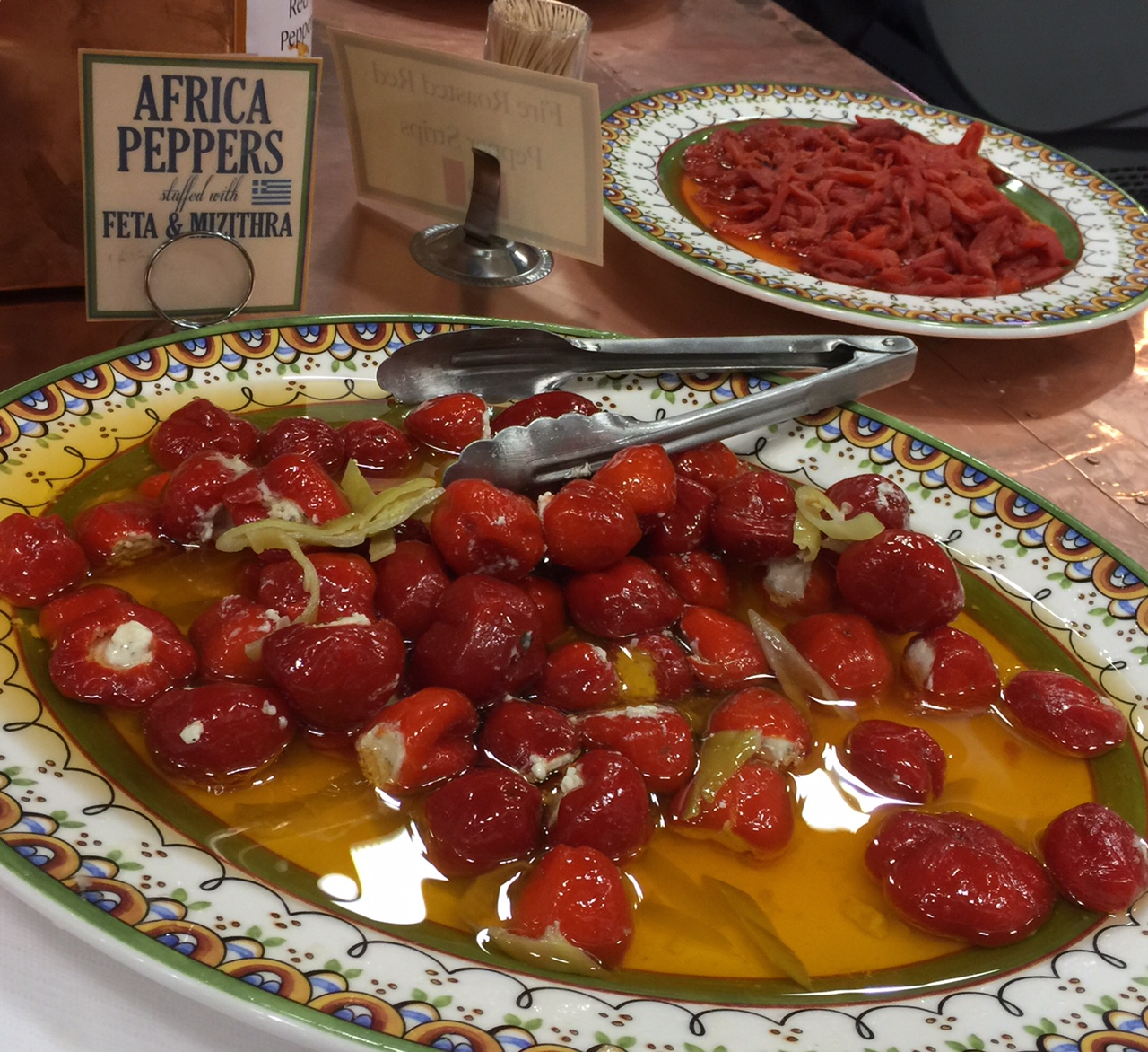 Africa Peppers with Feta Cheese