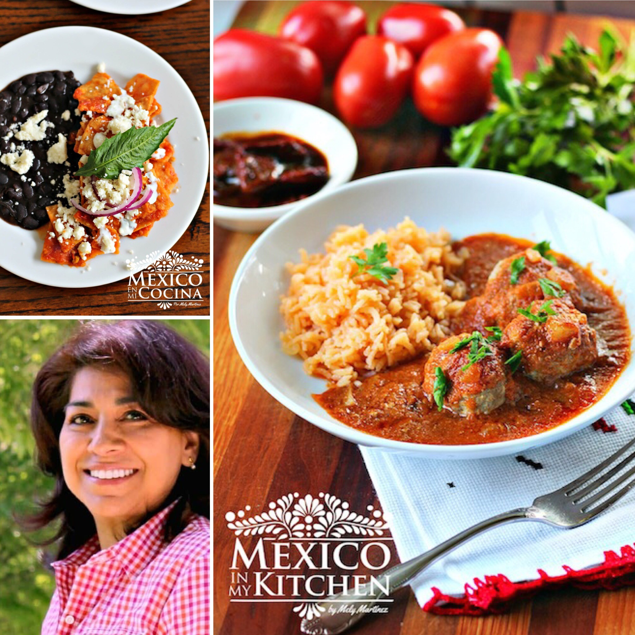 Mely Martinez and her  delicious chilaquiles  and  abondigas!
