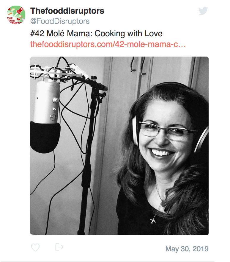 Food Disruptors Podcast Guest - Diana Silva created and produces Molé Mama, a multi-media platform all about connecting with food and with family. Molé Mama qualifies as a Food Disruptor because she offers an accessible means for stepping out of the powerful currents of our industrial food system and planting a firm stake of community, around which other food disruptors, big and little, can grow.