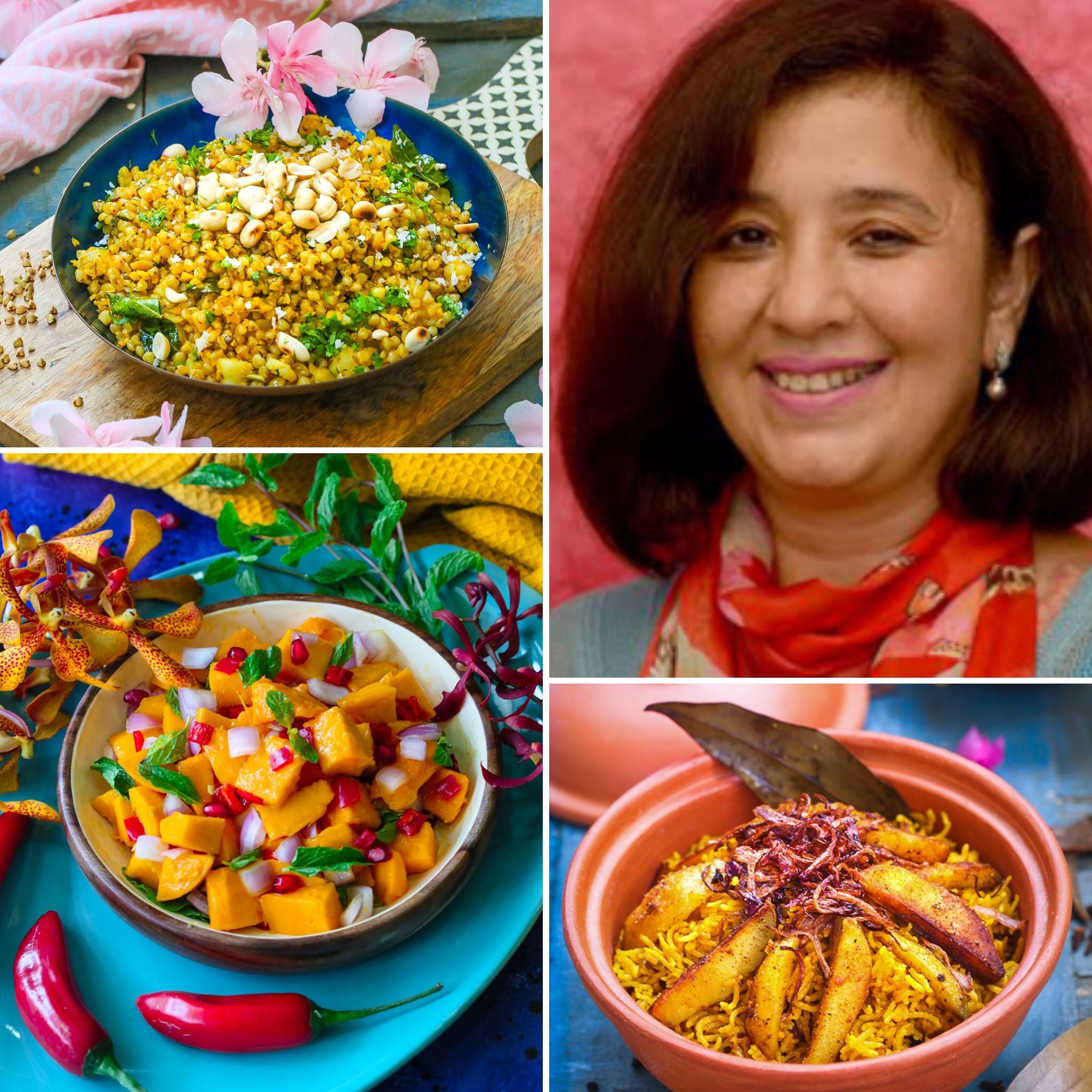 Anuja, Buckwheet, Mango Salad, Taheri
