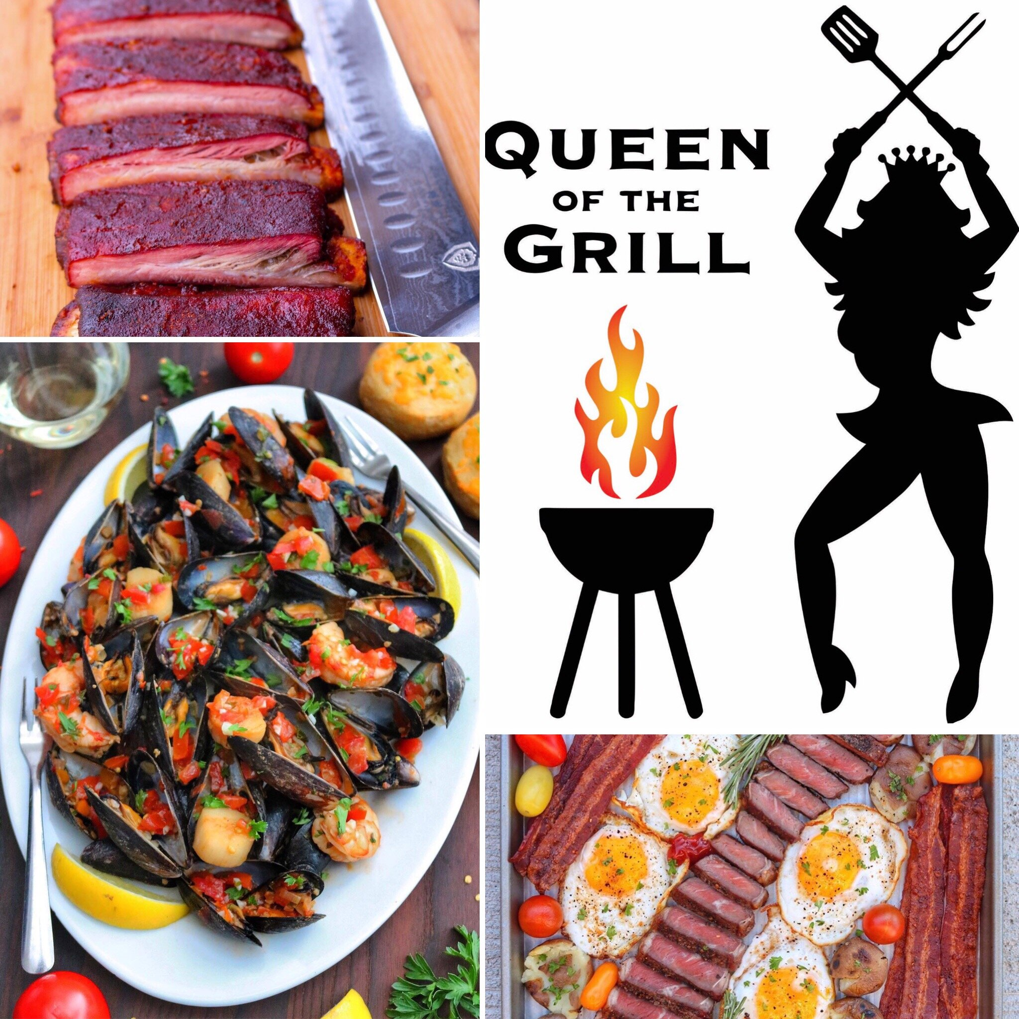 Queen Of The Grill Ribs, Seafood Platter and Breakfast!