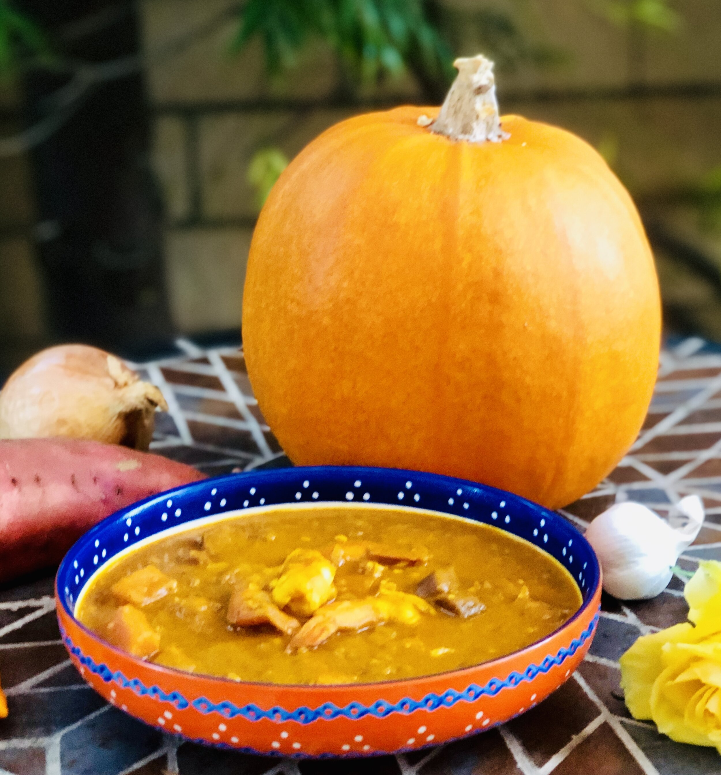 Spicy Pumpkin, Sweet Potato & Prawn Curry