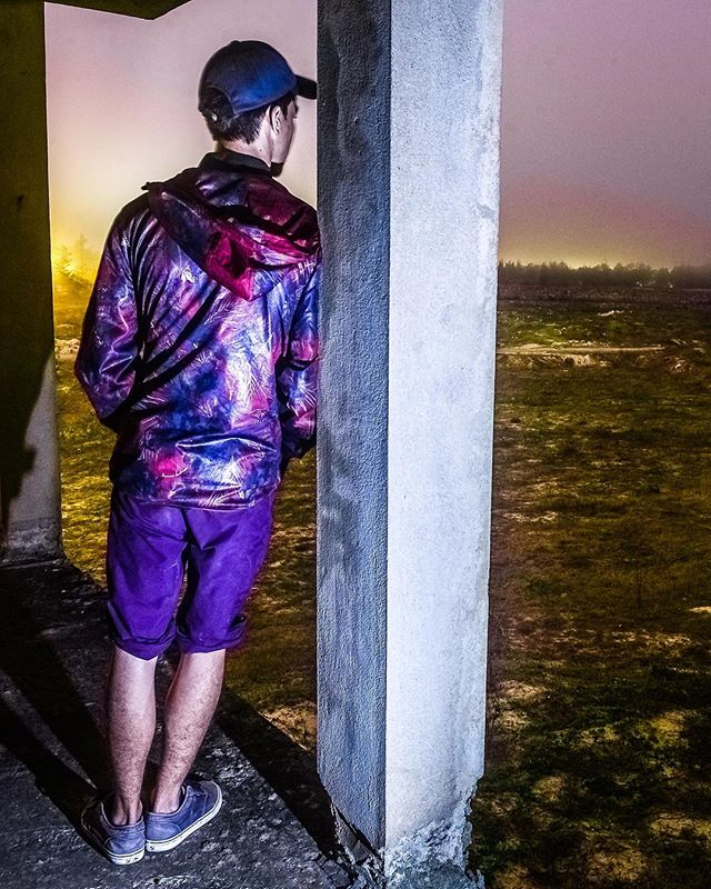 What do you do when you can't sleep..? @peter_madeja_ #insomnia #exploring #abandonedplaces #lightpainting #3am #longexposure #streetwear #abandoned #adventuretime #color #colorful #beautiful #beautifullight