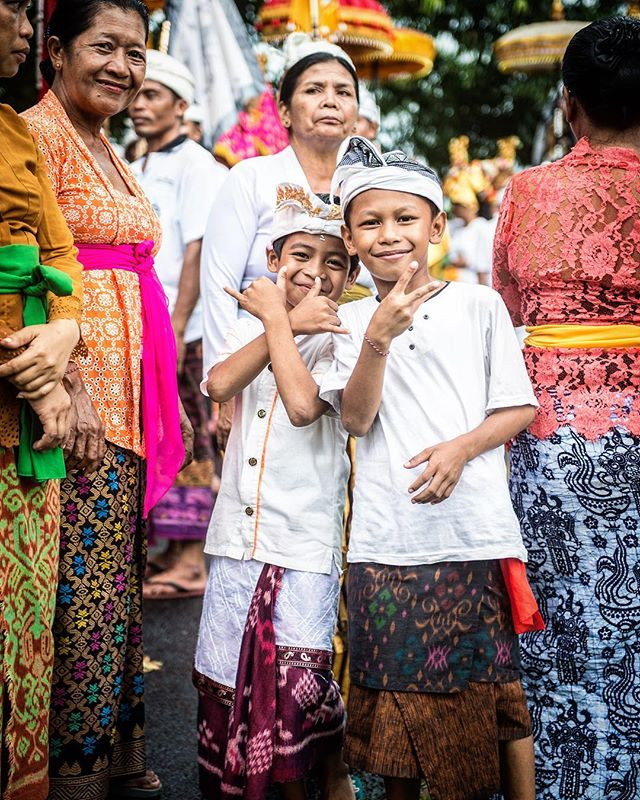 Local children participating in a  procession with the entire village before the full moon to bless and protect it.