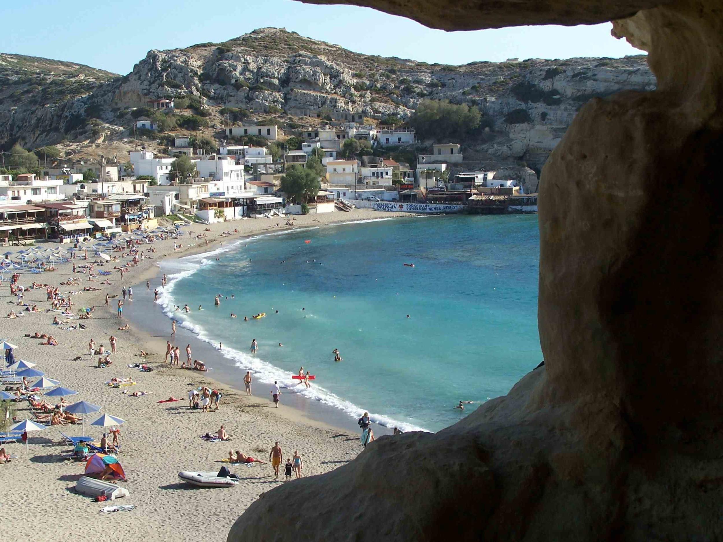 Creta, la spiaggia degli hippy