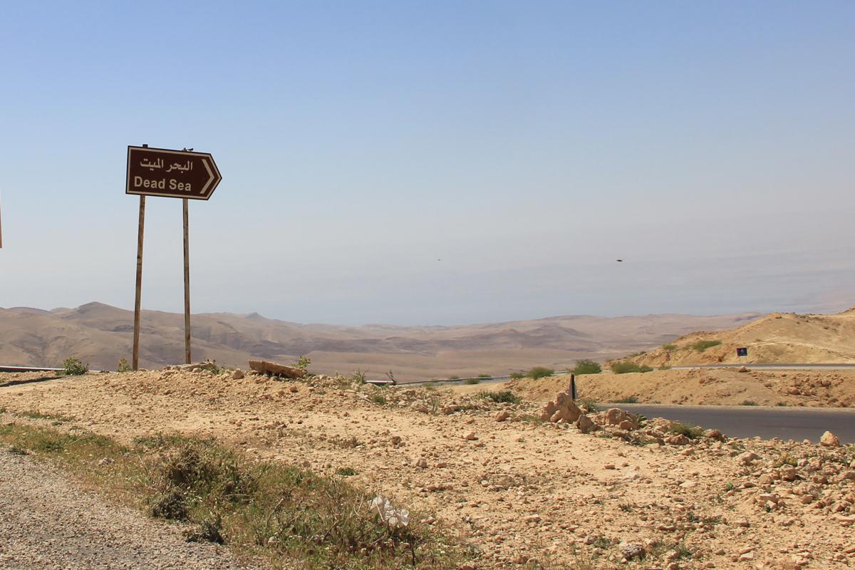 Dal Monte Nebo: direzione Dead Sea