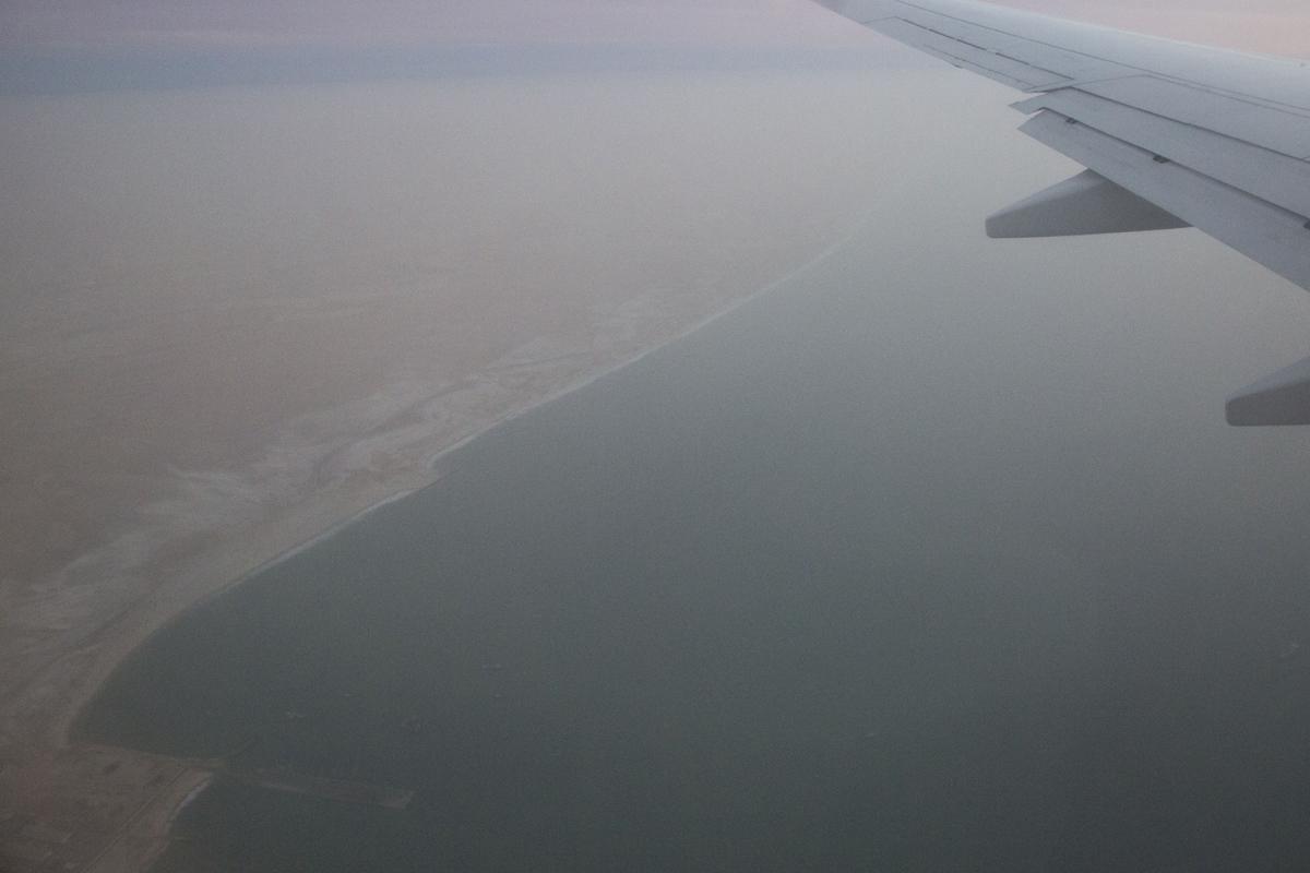 L'arrivo in Mauritania, sull'Oceano Atlantico