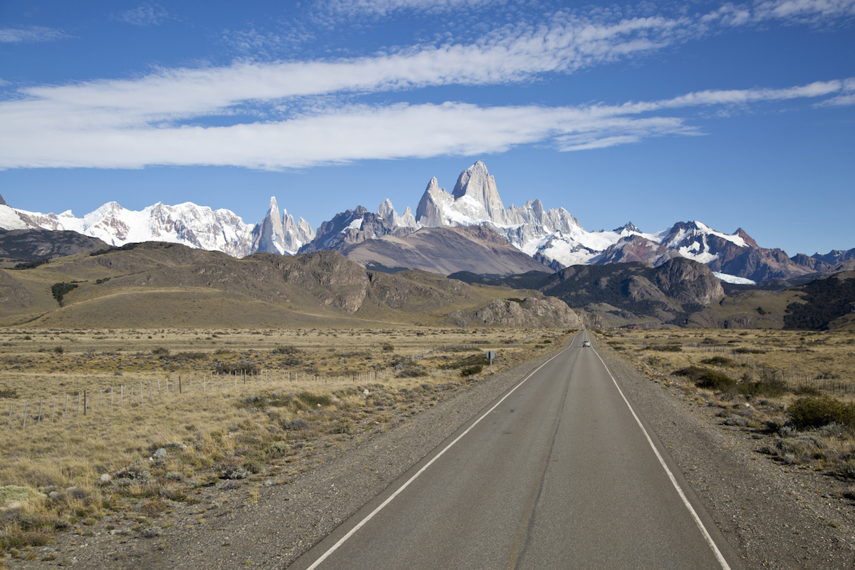 Il Cerro Torre e il Fitz Roy, arrivando a El Chaltén