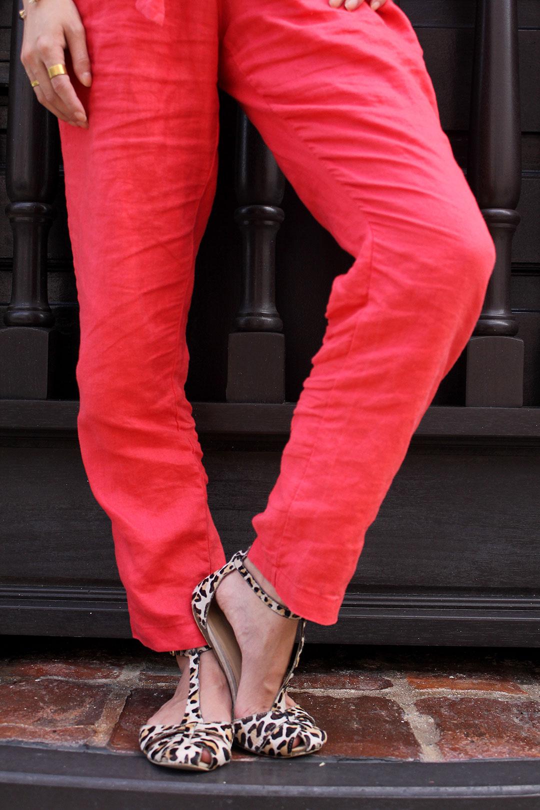 Calf hair sandals from Zara