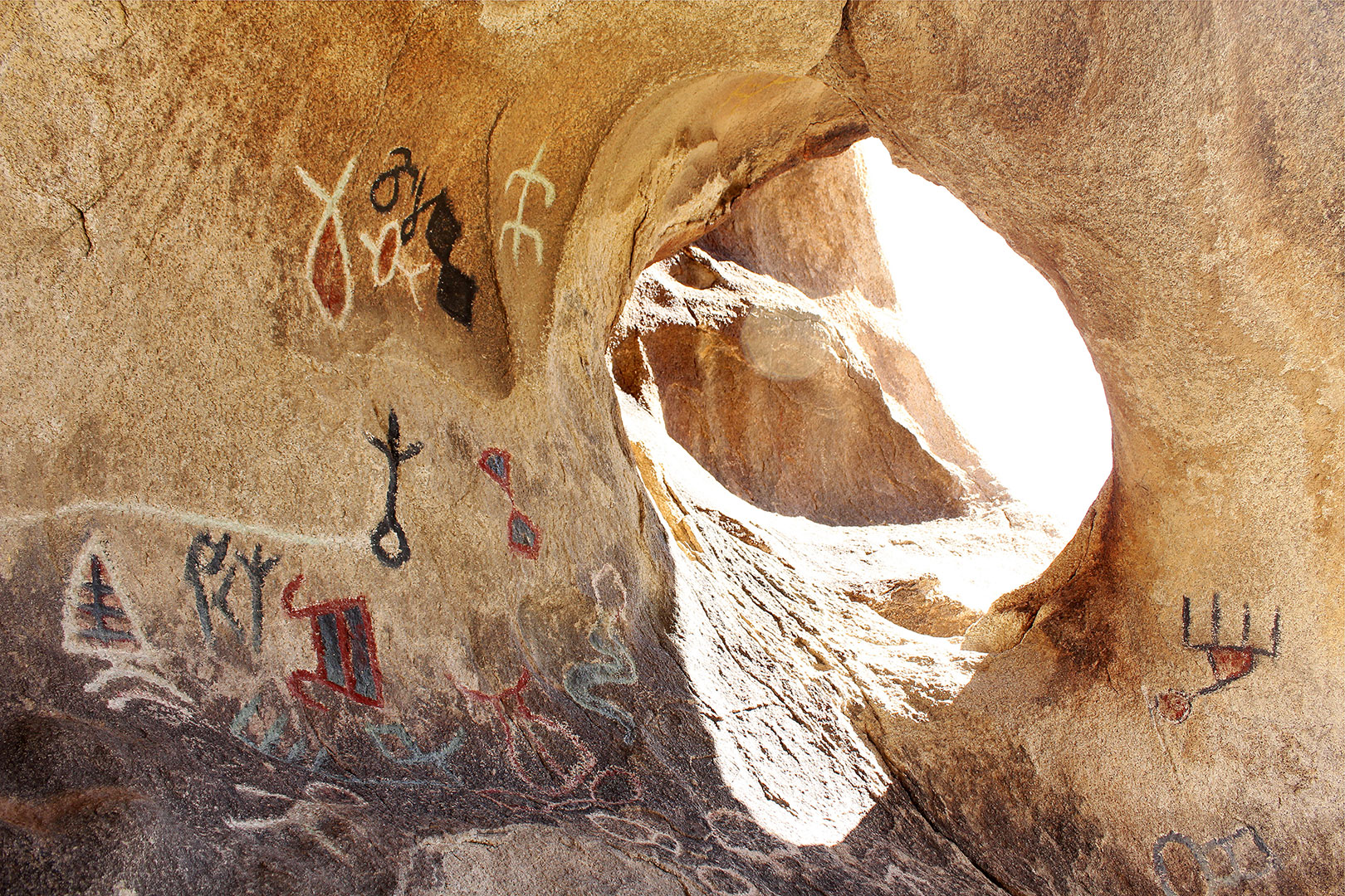 Native American Cave Paintings found on one of our hikes!