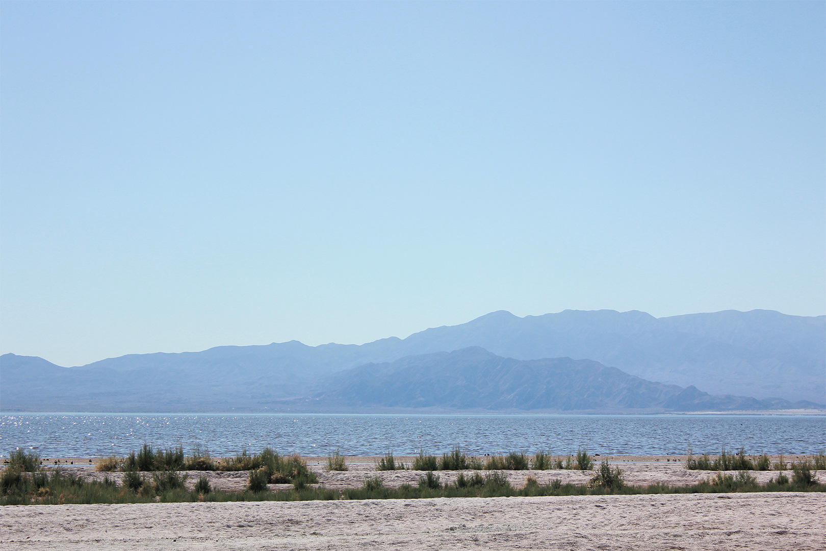 The Salton Sea on our way back up to Los Angeles