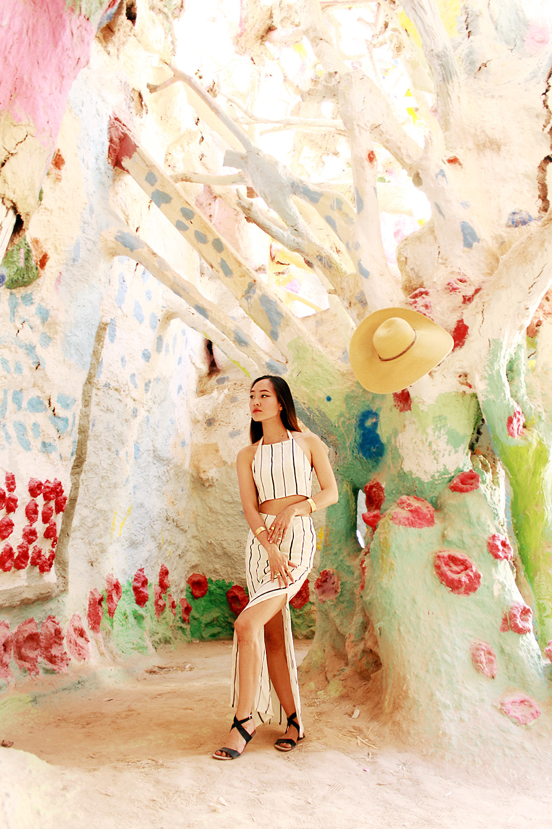 One of the domed interior views of Salvation Mountain