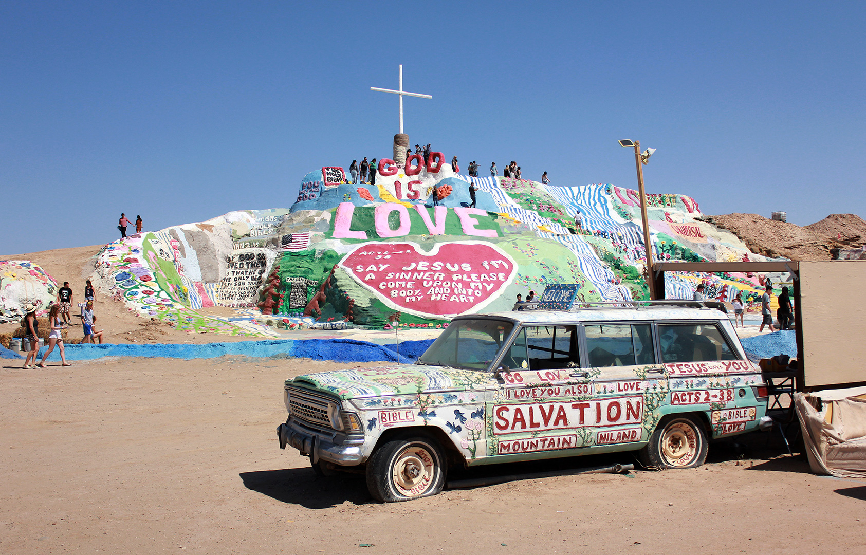 Salvation Mountain has its own Salvation Car! ;)