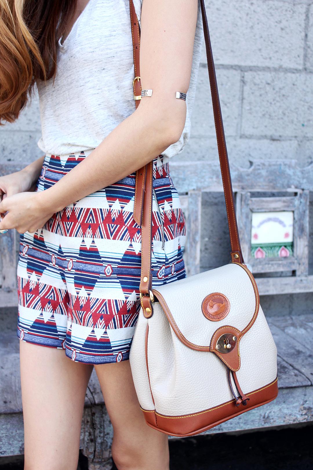 Zara Shorts, Dooney & Bourke Bag