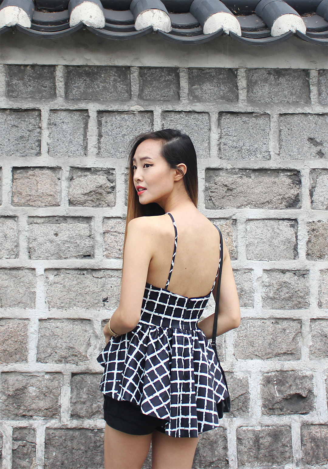 Beautiful layered details in the back of this top from Tobi.