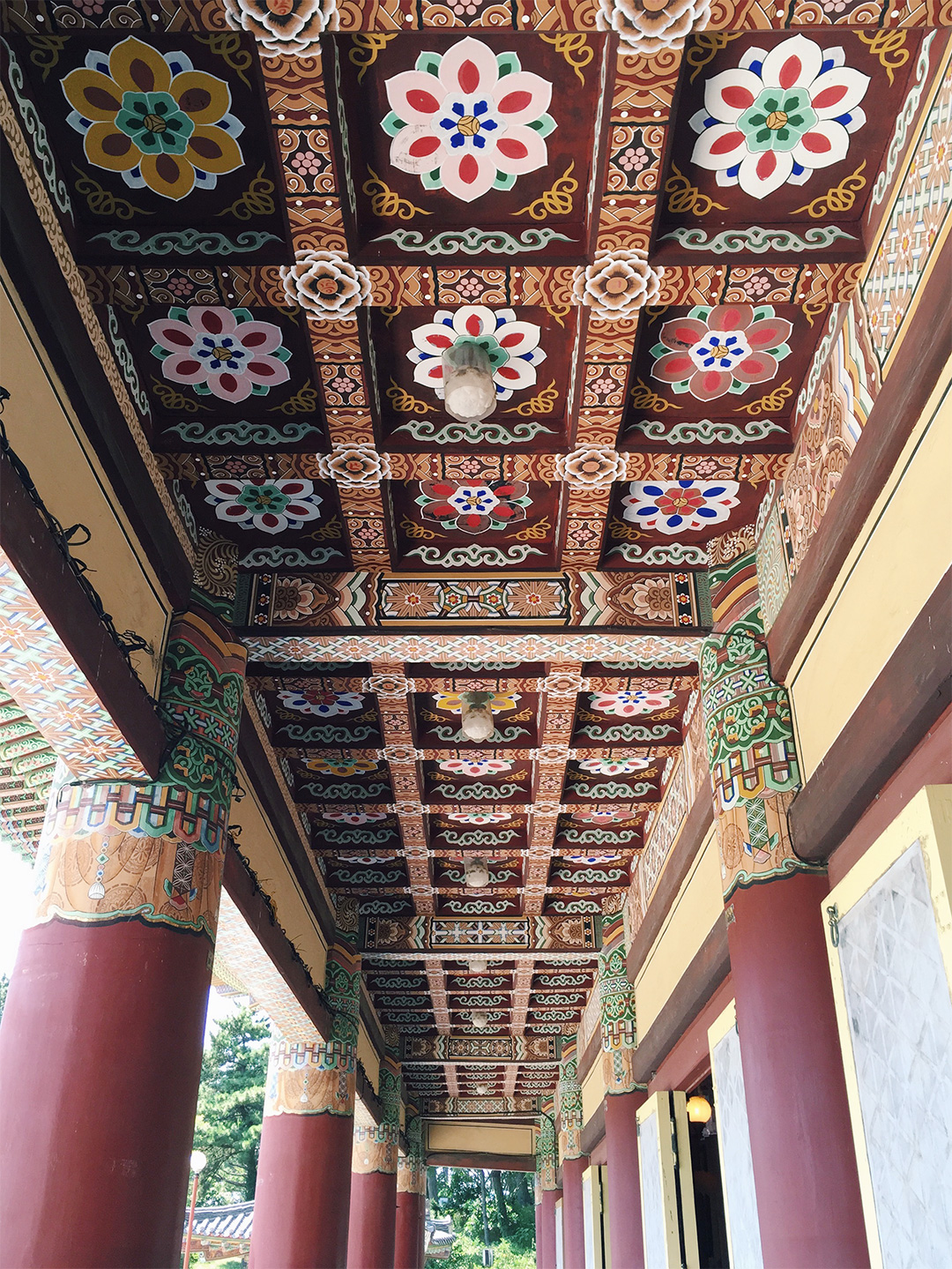 Beautiful hand painted, coffered ceiling