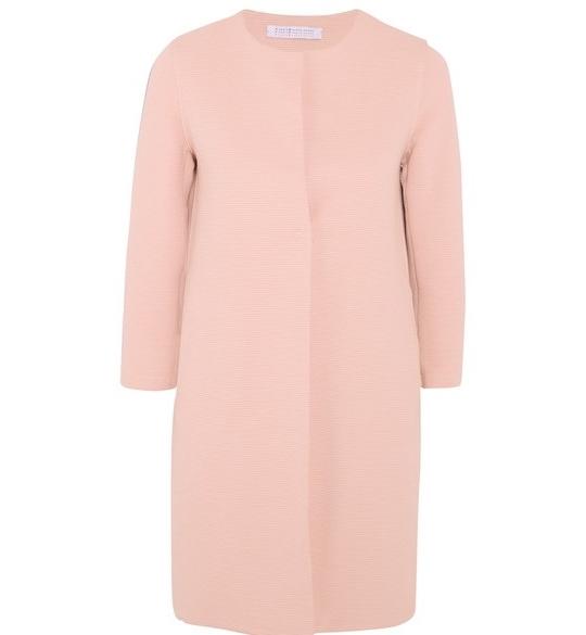 Harris Wharf London Ribbed stretch cotton-blend coat