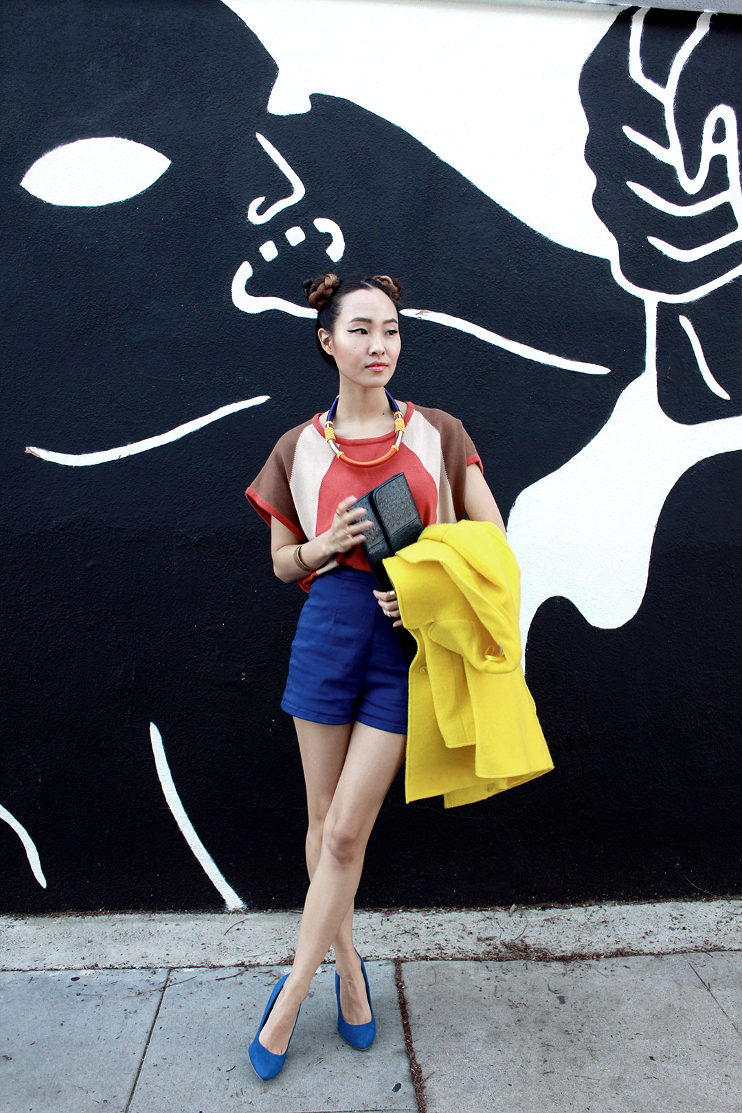 Color blocking with primary colors!