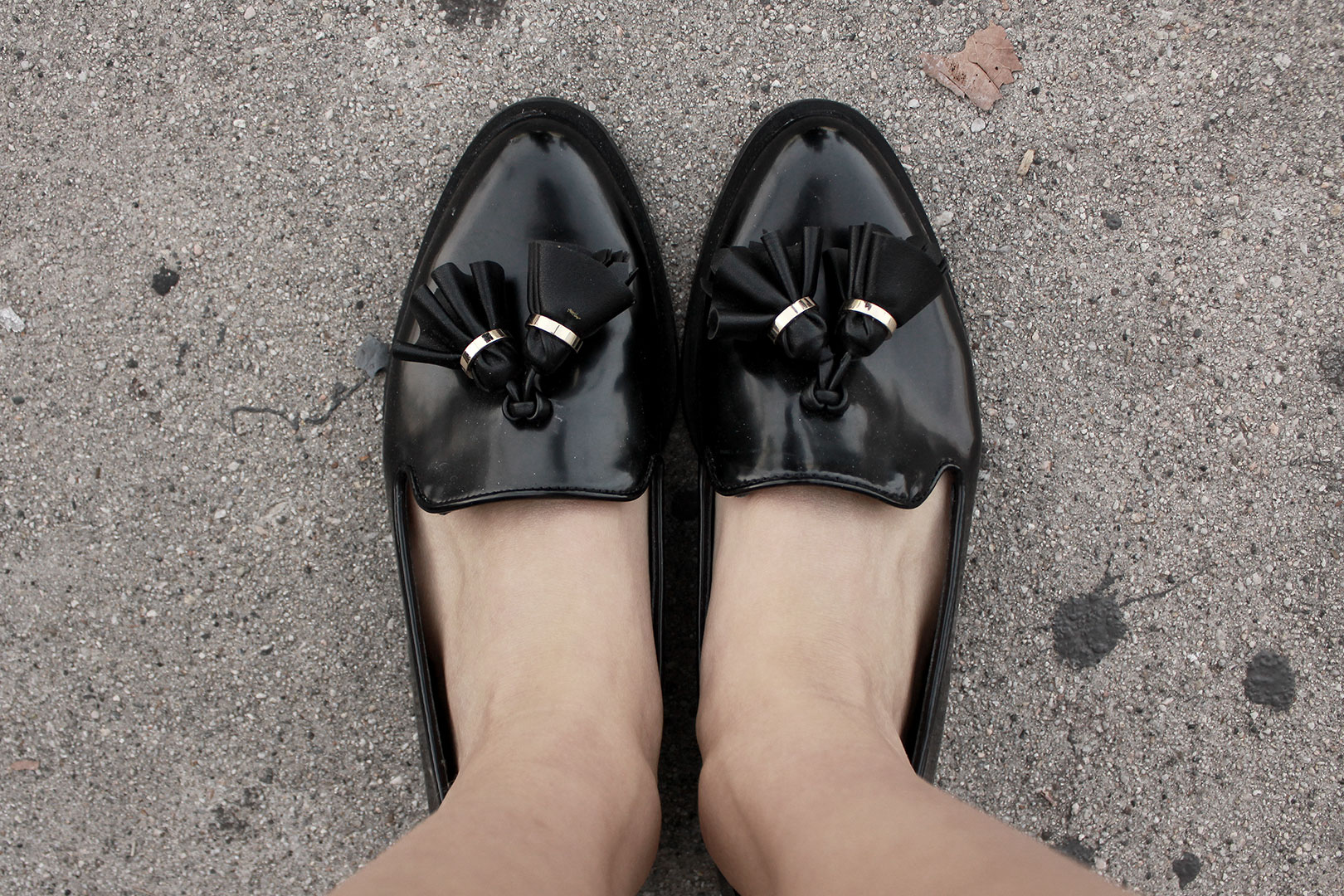 Zara loafers with tassel detail