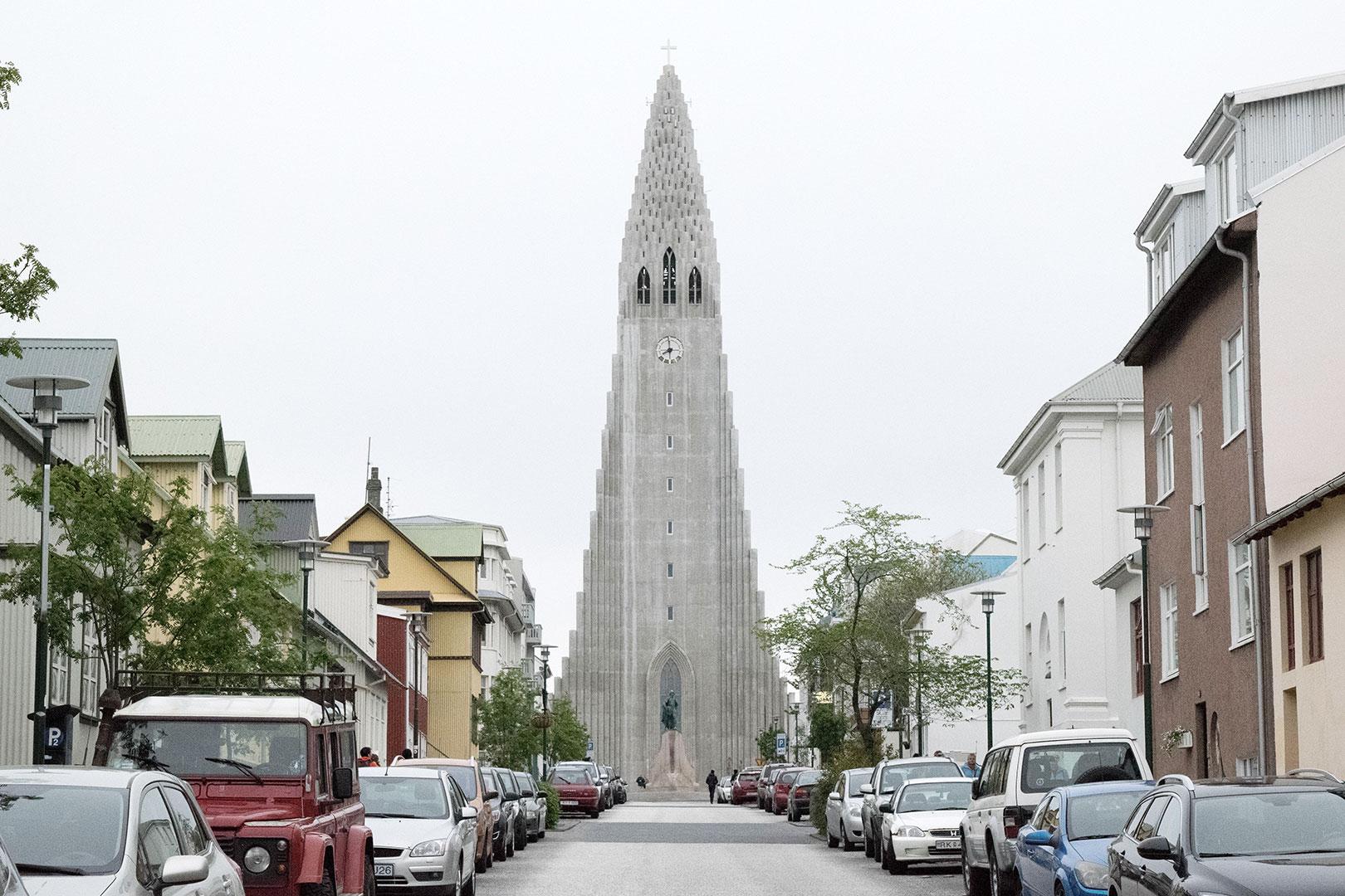 A view of Hallgrímskirkja