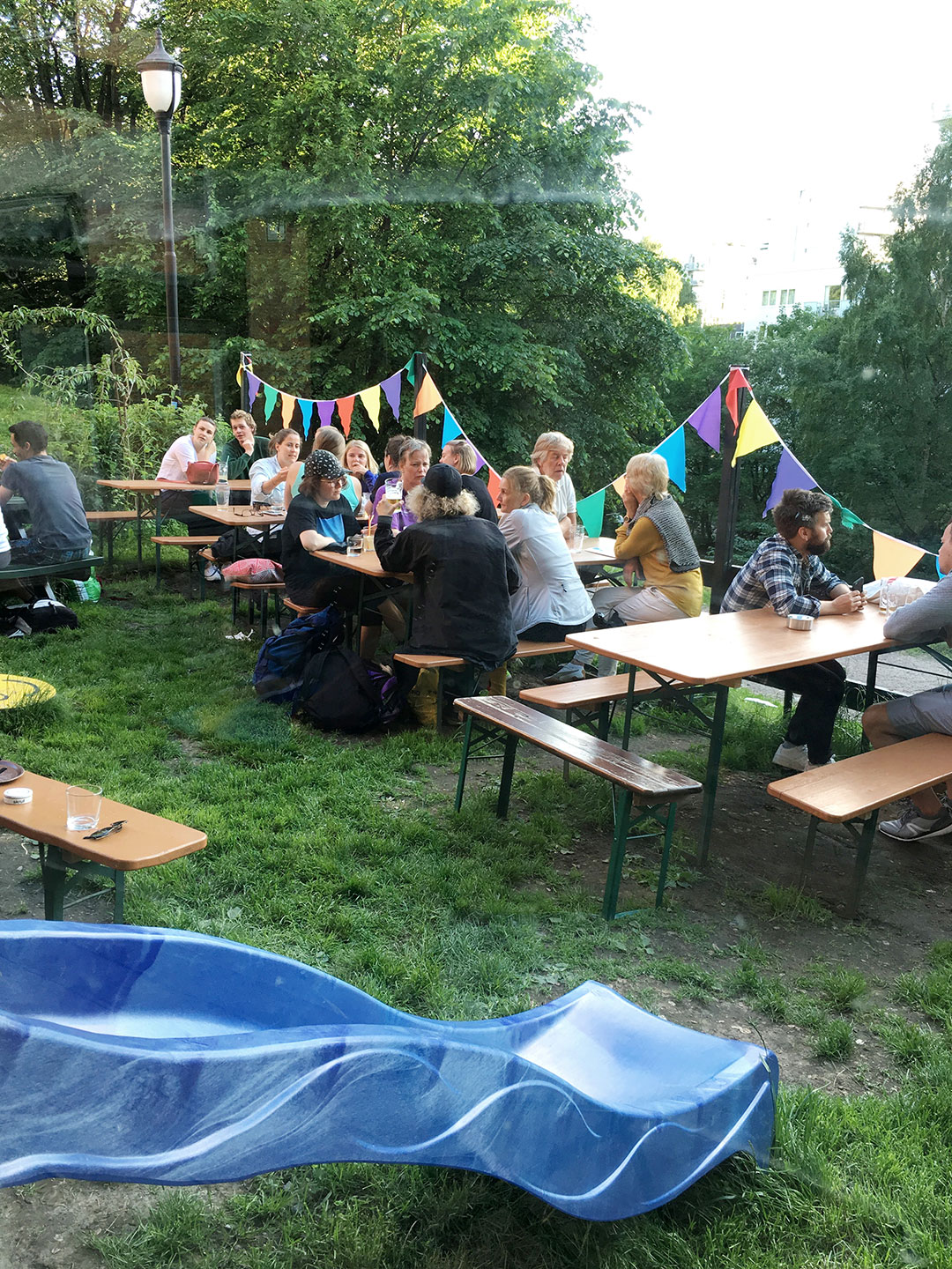ST. PAULI BIERGARTEN  Slide into the backyard of St. Pauli Biergarten to have a few cold beers and light bar foods. This hipster joint is a super chill and fun hangout spot. FB Page:  Here