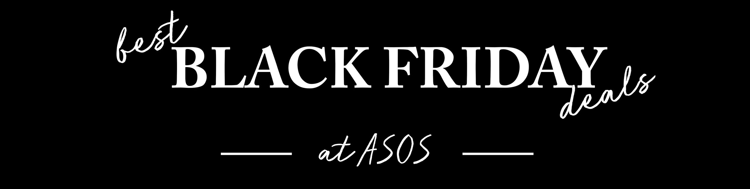 Best Black Friday Deals ASOS