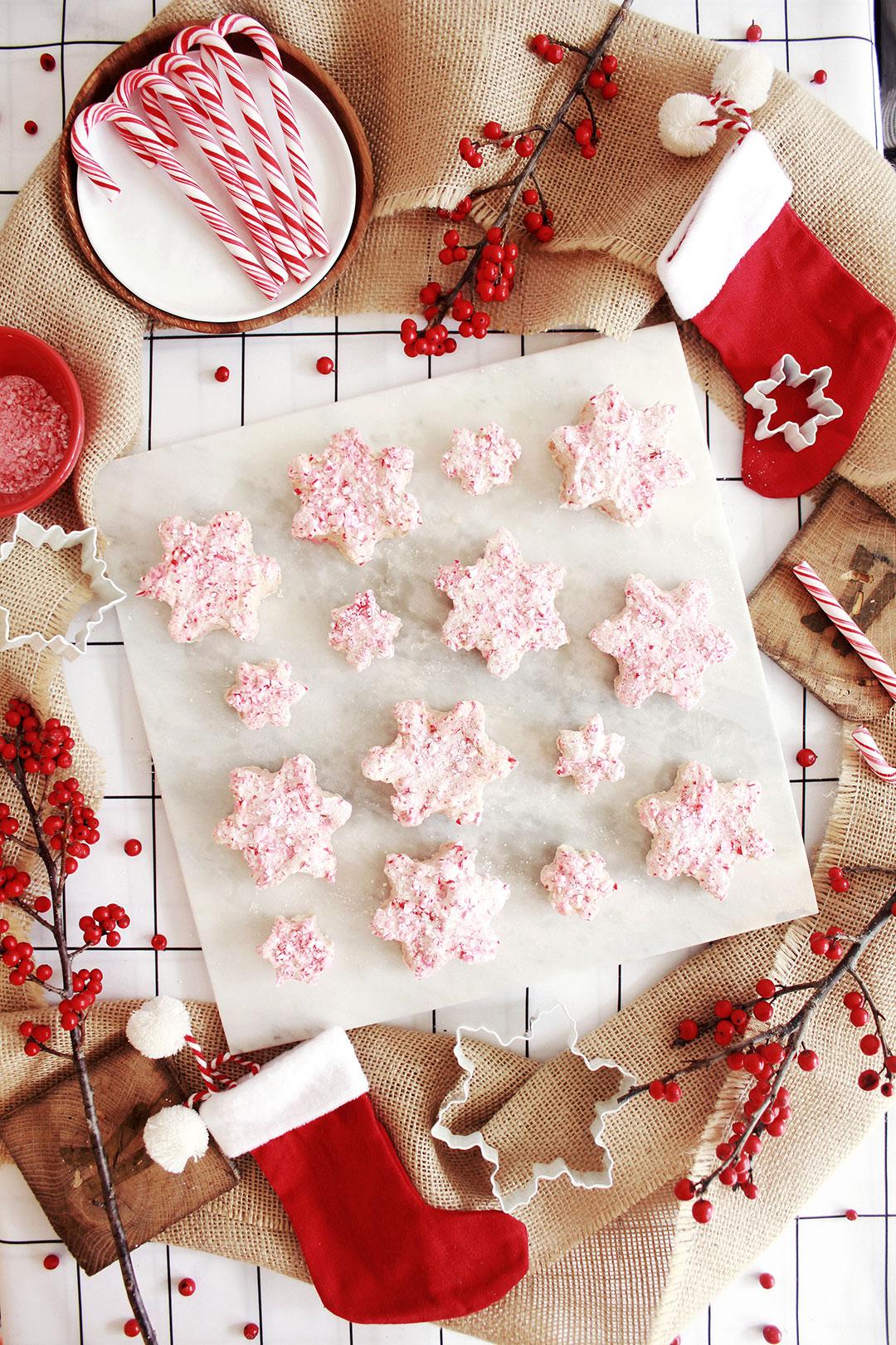 Homemade Snowflake Peppermint Marshmallows Recipe
