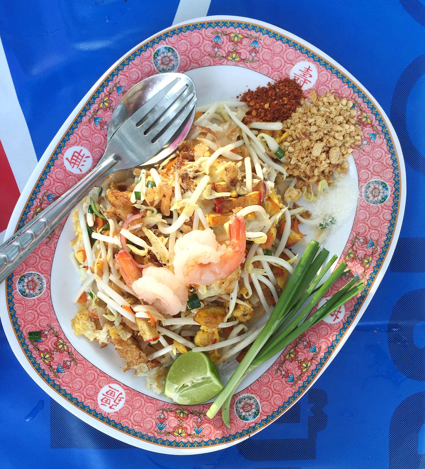 Pad Thai Street Food in Ayutthaya