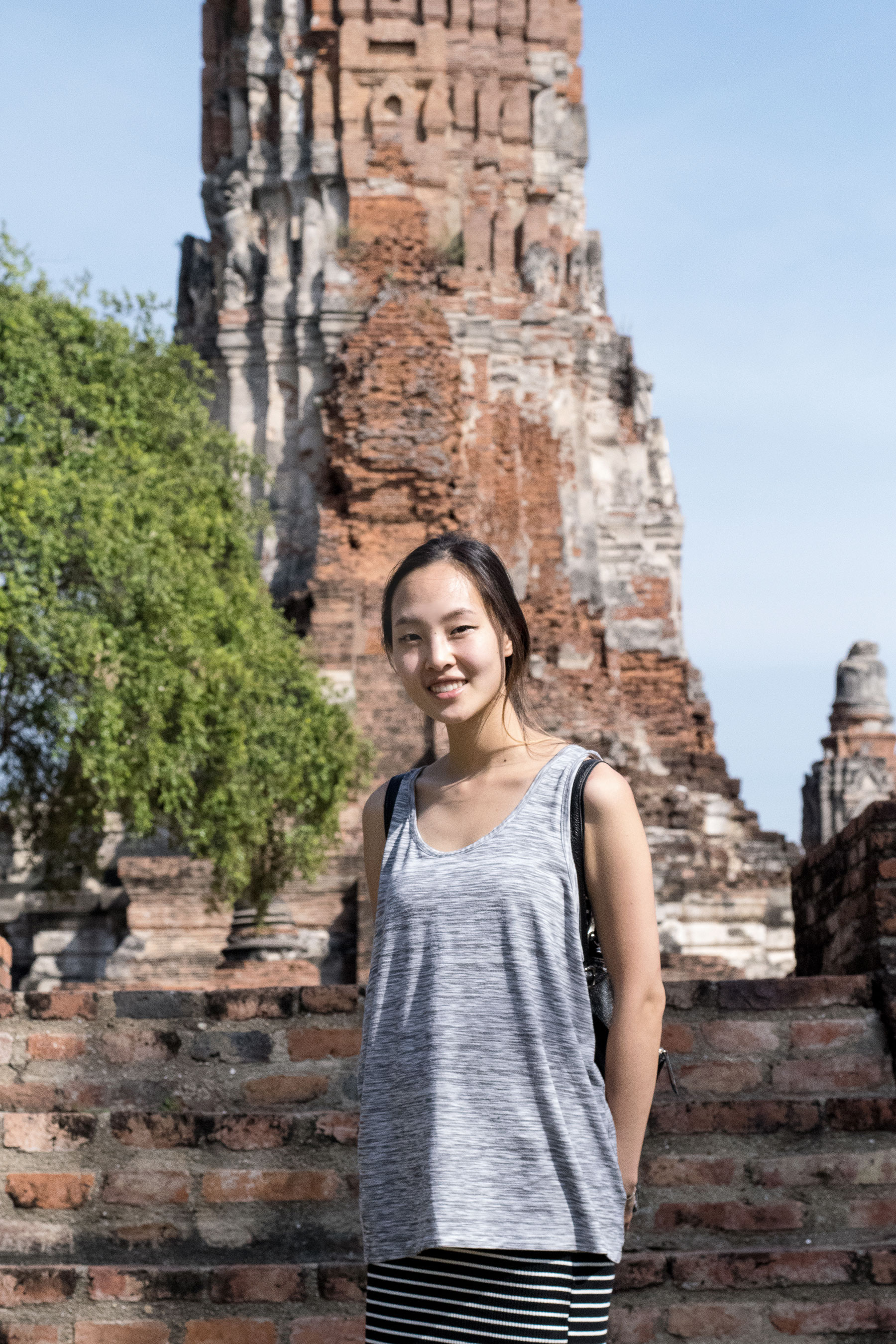 DRESS CODE:  I was wearing a crop top under the tank but I had to cover up (for modesty) in order to see all the temples.
