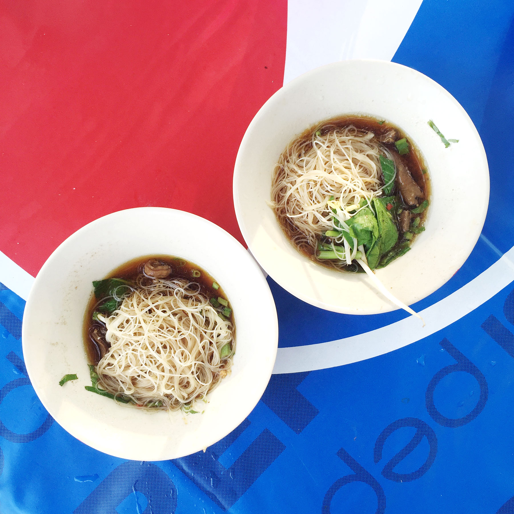 BOAT NOODLES:  You must try boat noodles when you visit Ayutthaya. They're literally made on a boat!