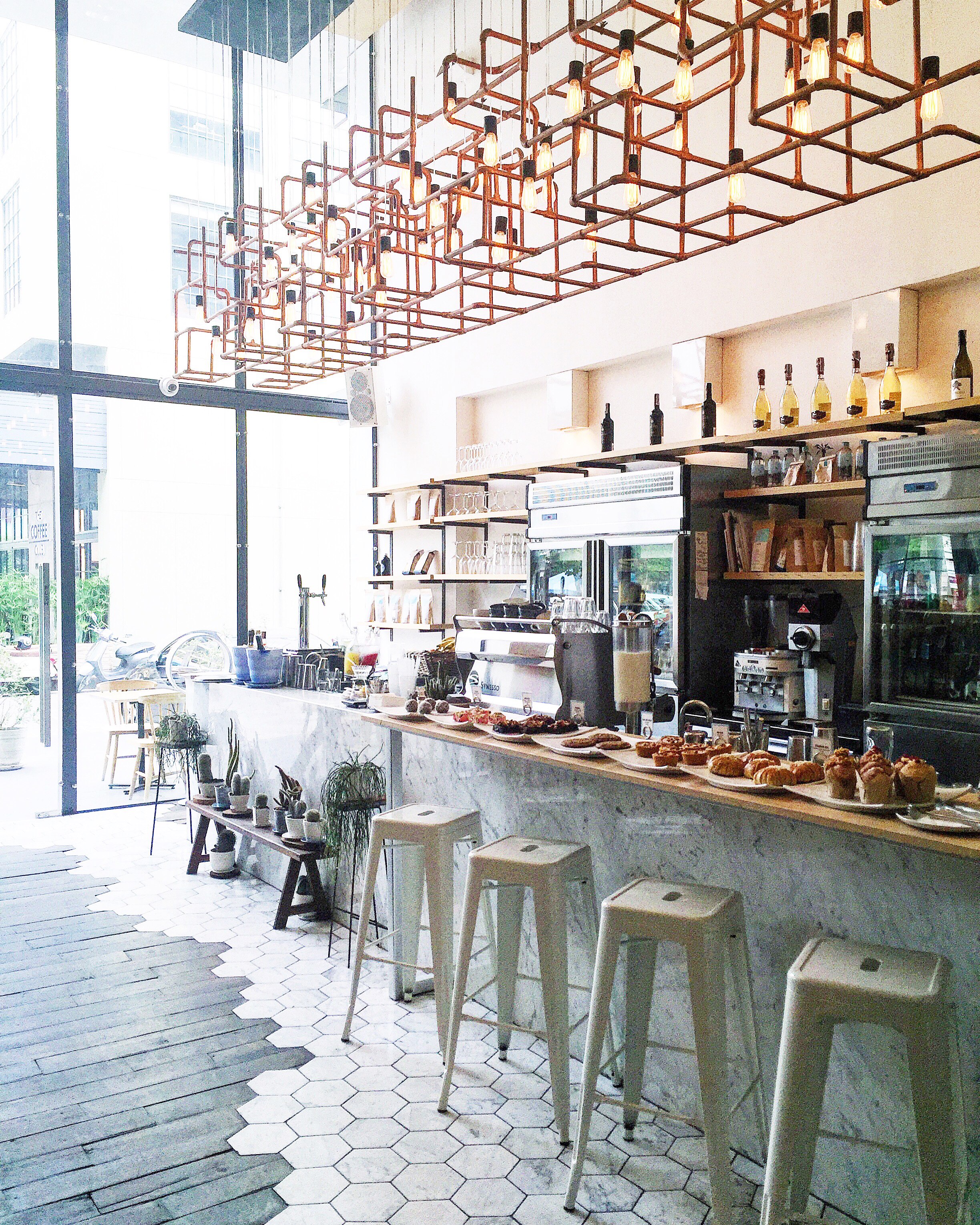Amazing coffee and pastries at Rocket Coffee Bar