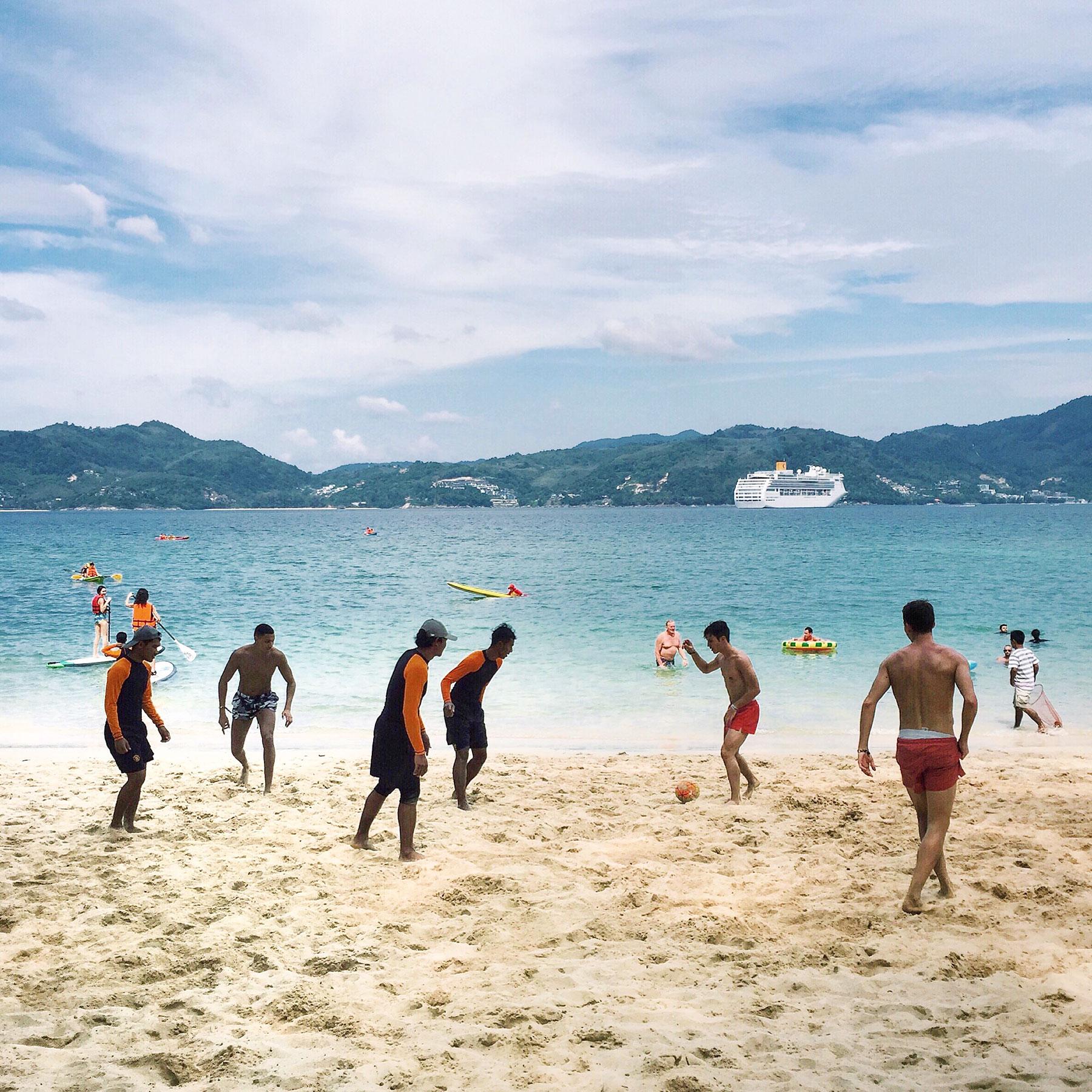 Soccer on Paradise Beach in Phuket