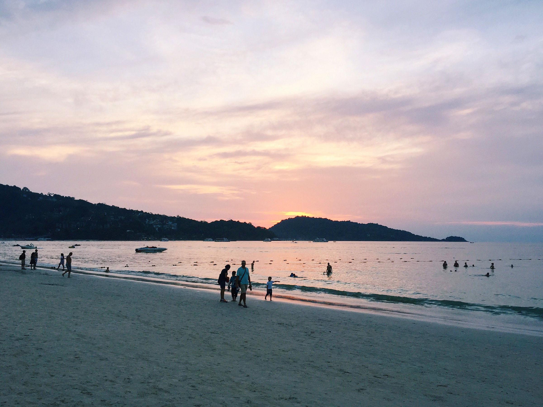 A beautiful sunset at Patong Beach in Phuket