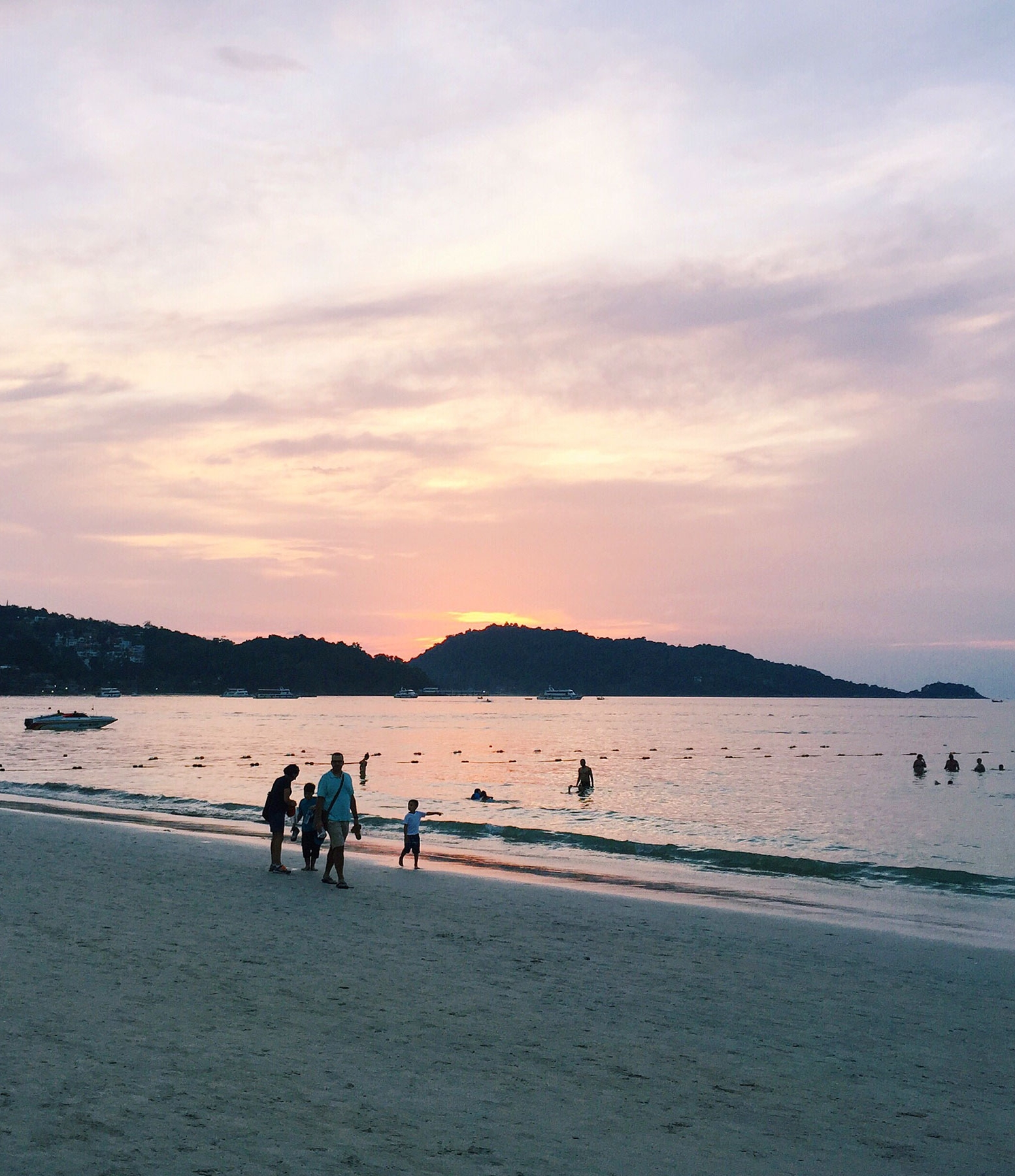 PATONG BEACH:    Patong Beach   is one of the most well-known beaches in Phuket with lots of shopping, bars, nightlife, and restaurants because of it's proximity to Bangla Road. It's a touristy beach, so if you don't like crowds and noise, check out Paradise Beach.