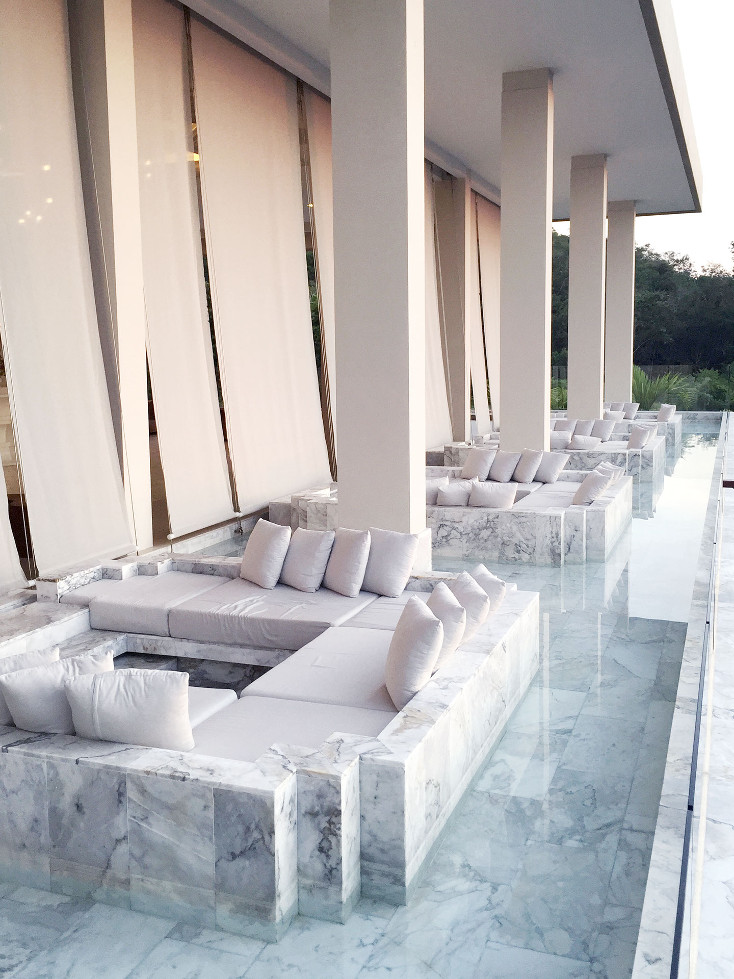 The lounge area at Avista Hideaway Phuket Patong by Sofitel.