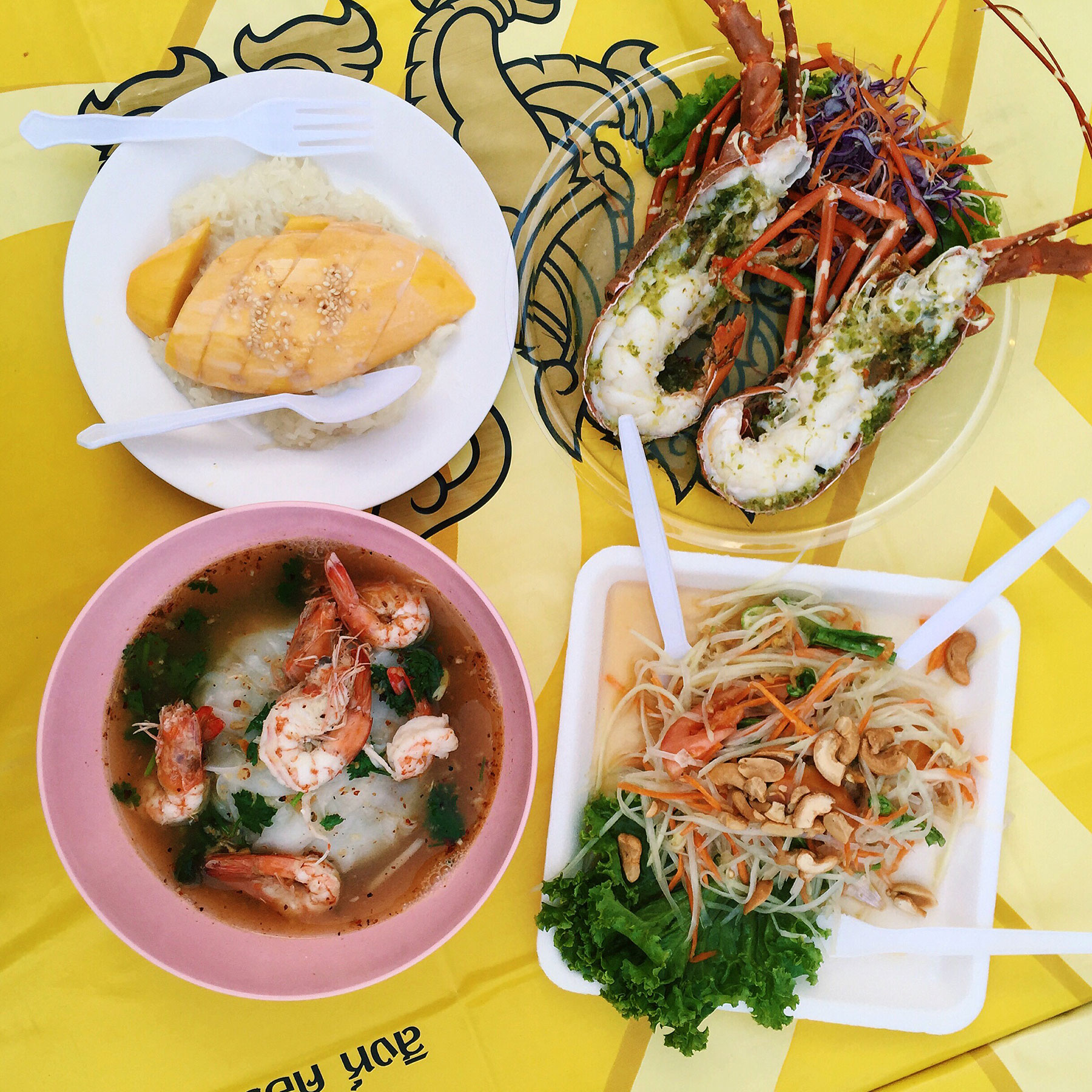 STREET FOOD:  A trip to Thailand would not be complete without getting your fix of delicious street foods. Try amazing street foods on   Khao San Road   in Bangkok, or   Bangla Road   in Phuket!
