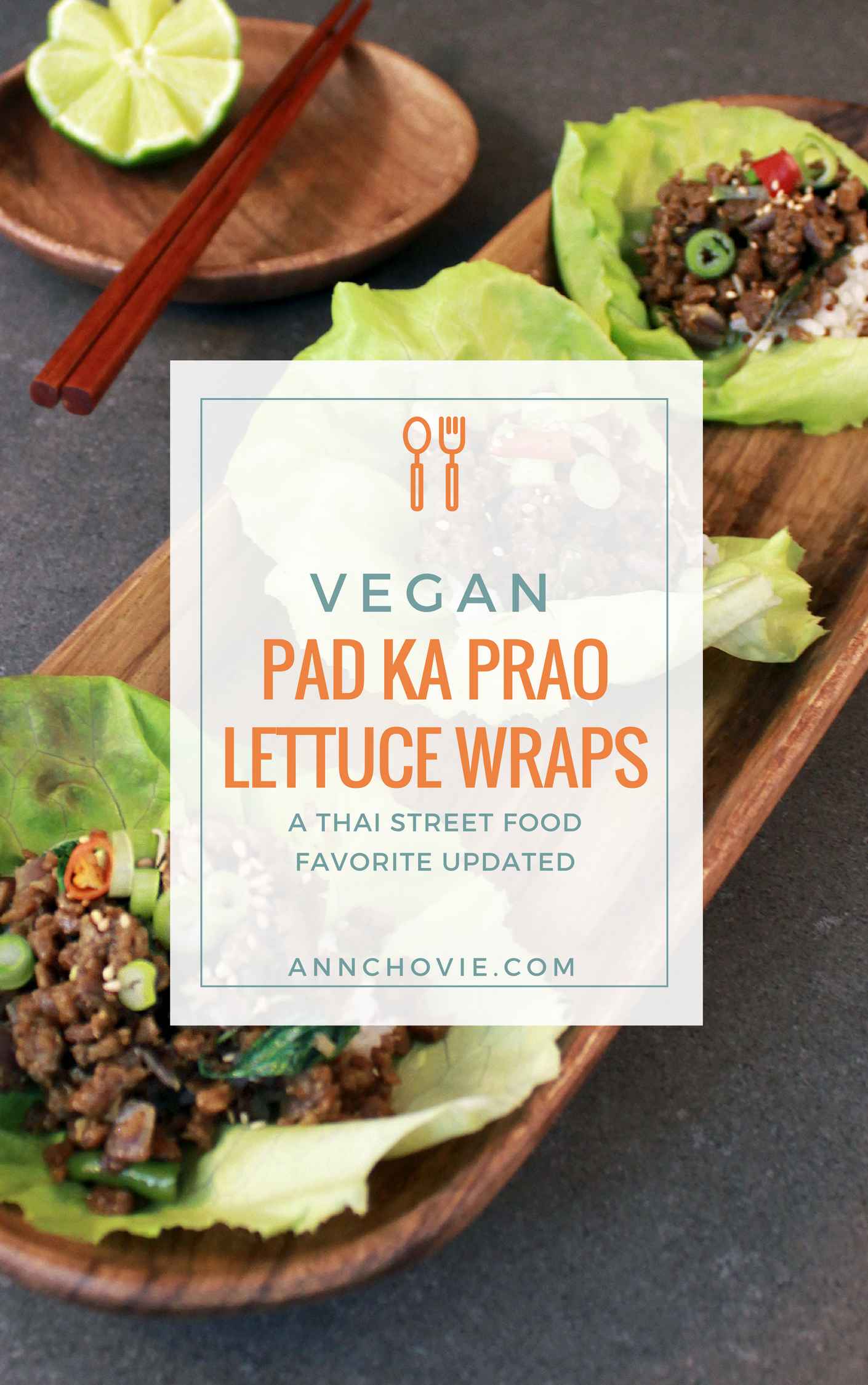 My delicious Vegan Thai Pad Ka Prao Lettuce Wraps, uses imitation meat, vegetarian mushroom sauce, and savory Thai chilis and basil. It's topped over rice and butter lettuce cups as fun lettuce wraps. Serve this as a healthy lunch, or as appetizers. The savory and spicy Thai flavors will keep you reaching out for more! | PAD KA PRAO LETTUCE CUPS | HEALTHY ASIAN LETTUCE WRAPS | SPICY THAI BASIL STIR FRY | SPICY THAI RECIPE | HEALTHY VEGAN RECIPE |