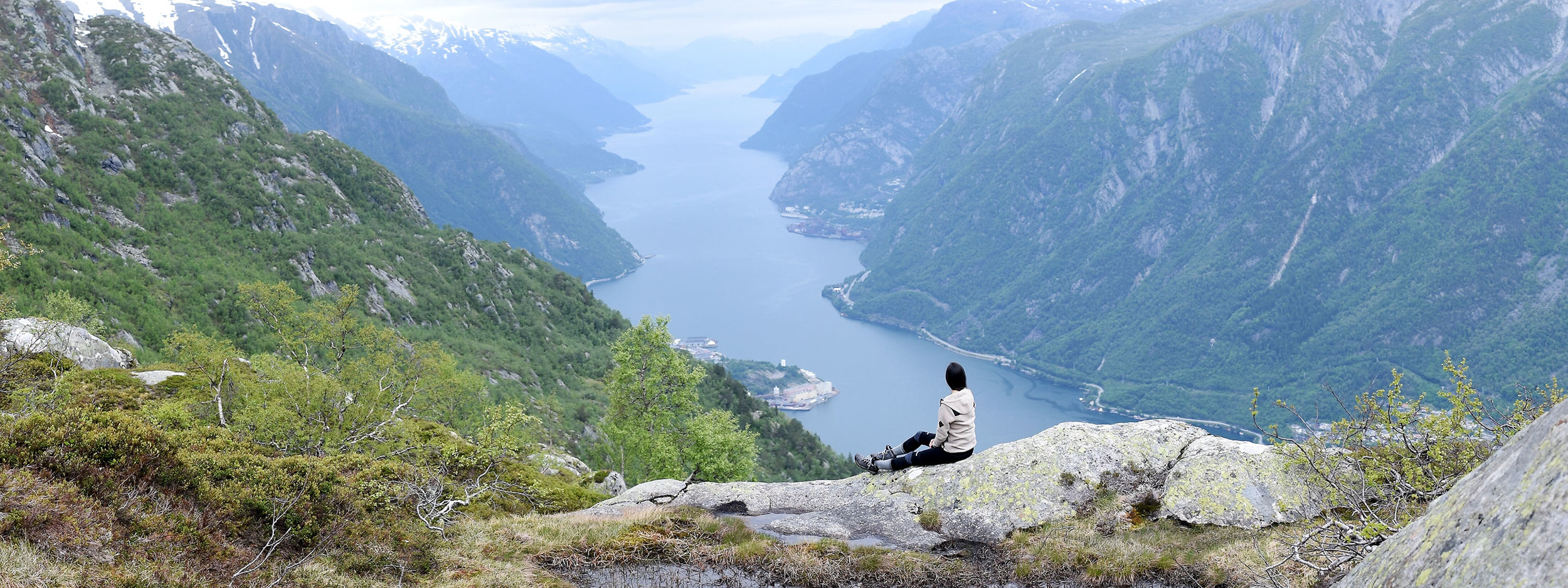 An aerial view of the fjords are a must when in Norway.The view is even more stunning in person!
